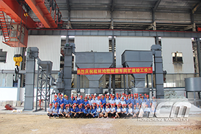 The expansion project of wear-resistant workshop in HCM (Guilin Hongcheng)  was completed and put in