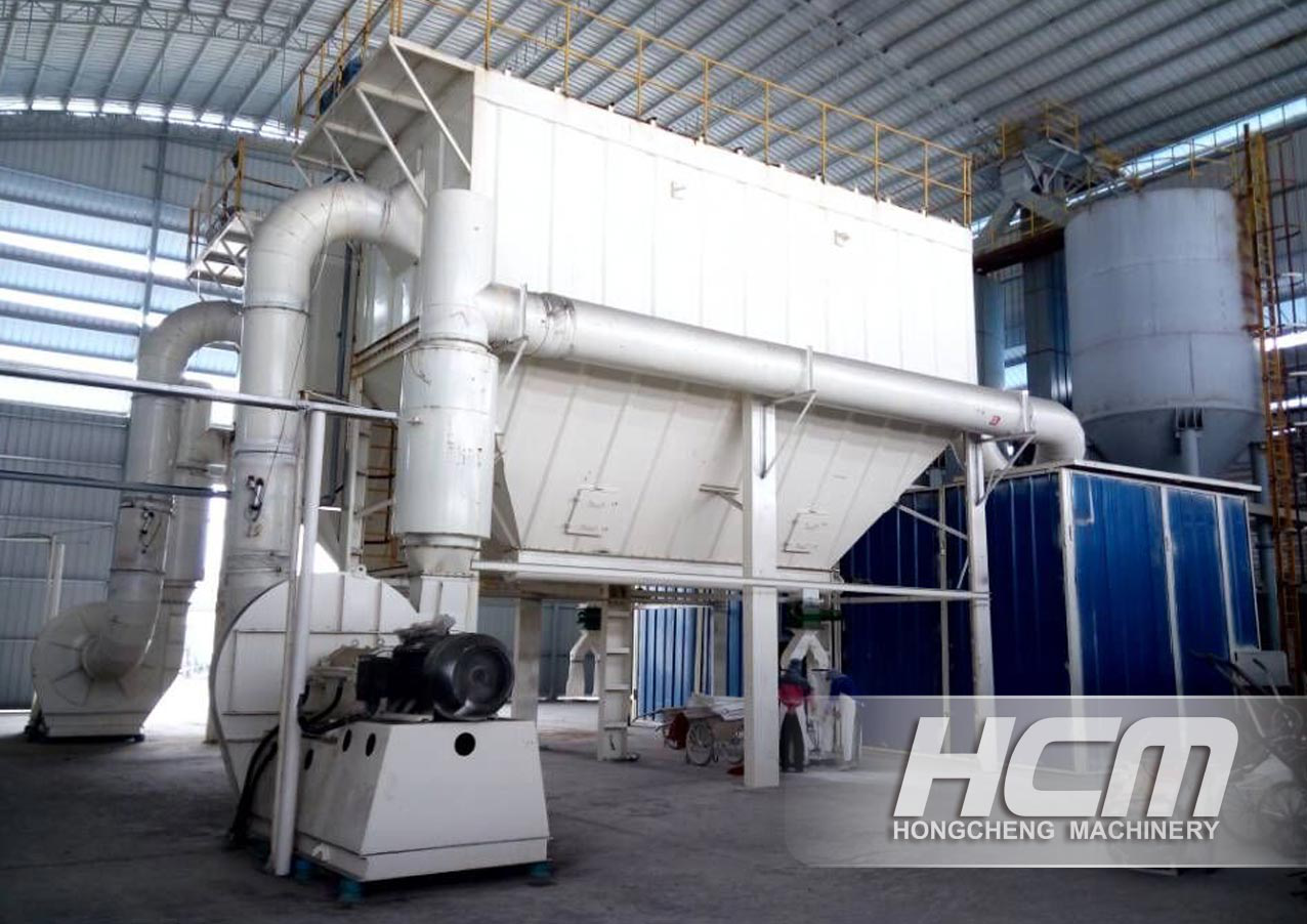 A  Production Line of Calcium Carbonate in Southeast Asia