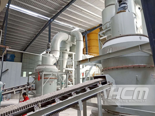 The usage of GCC and Raymond grinding mill