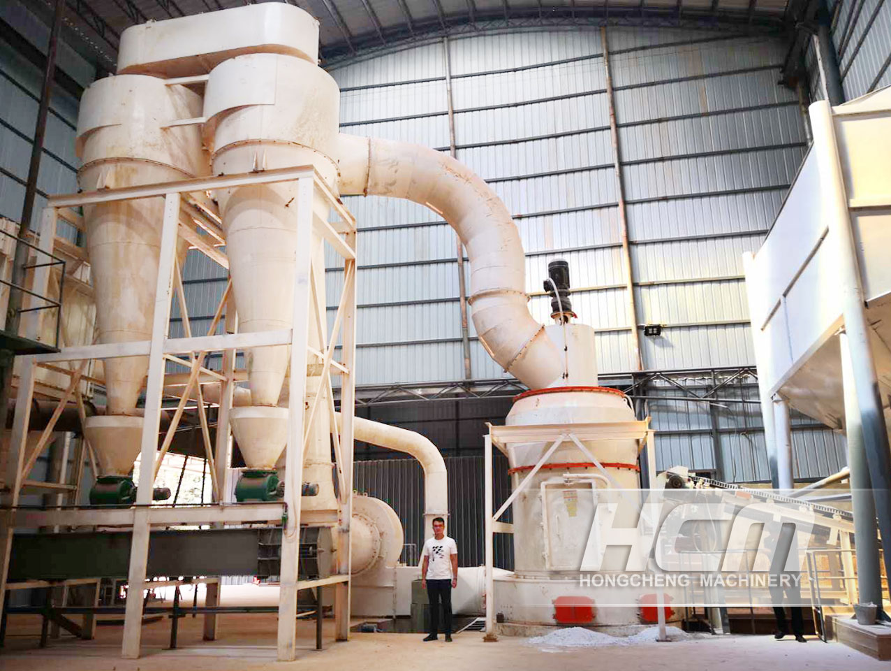 Large capacity vertical Raymond grinding limestone power processed plant